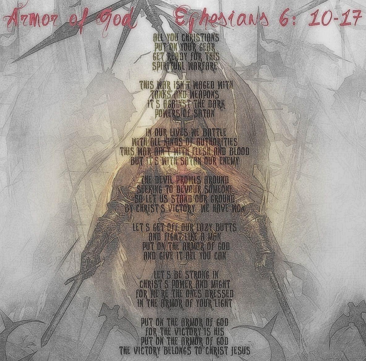 Armor Of God... Read It... Ephesians 6: 10