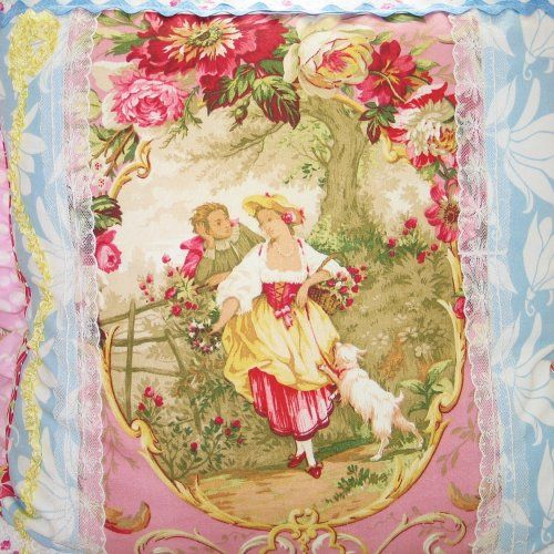 Pink Victorian Pillows : Vintage Victorian- Couple-Cameo -Fragonard -Pink Roses -Pillow -Blu...... favorites from ...