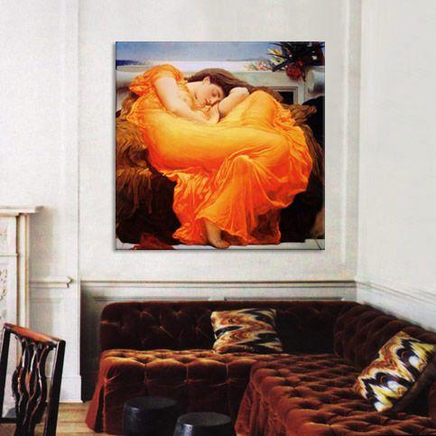 Frederick Leighton Flaming June Canvas Art Print - iCanvasART.com