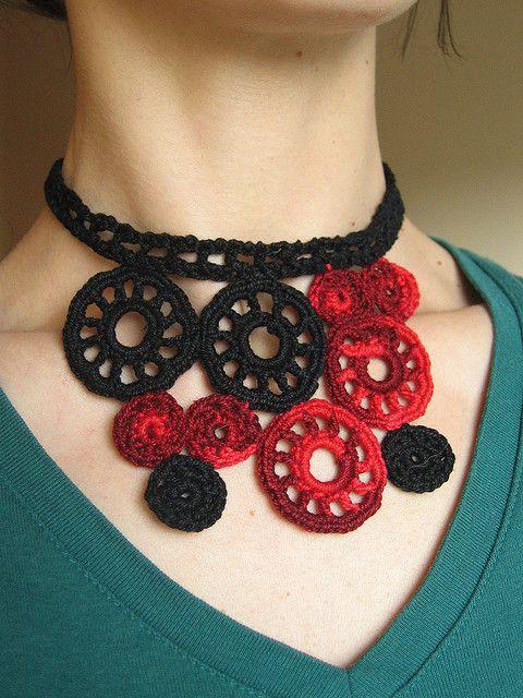 Uffizi pattern by Berroco Design Team | Crochet Jewelry | Pinterest ...