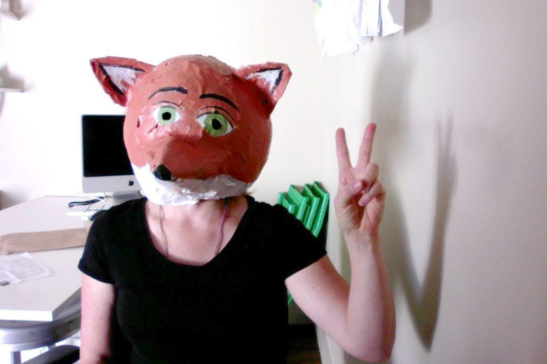 How To Make A Paper Mache Fox Mask Head By Mr Otter Art Stuio