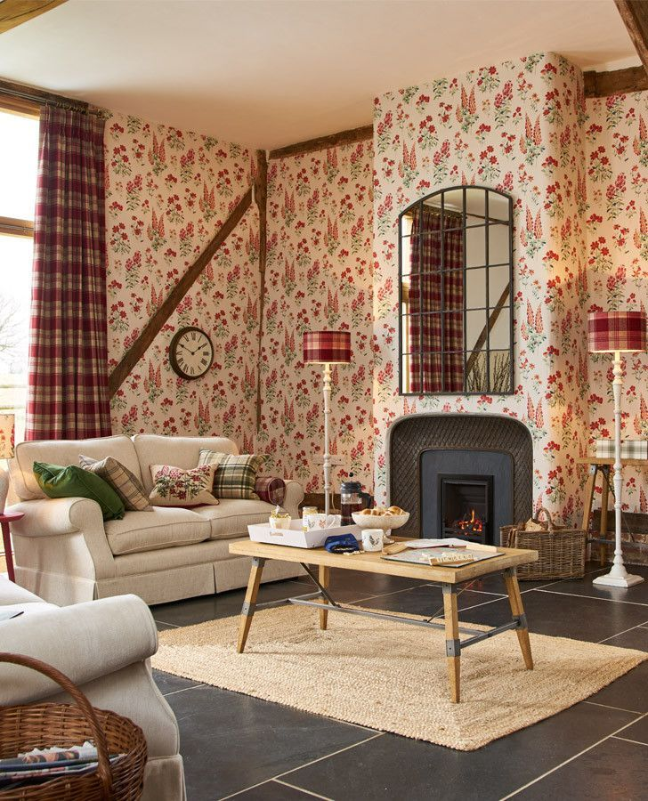 Fernshaw Cranberry Wallpaper Laura Ashley Home 1