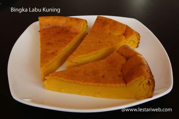 Bingka Labu Kuning Resep Makanan Makanan Dan Minuman