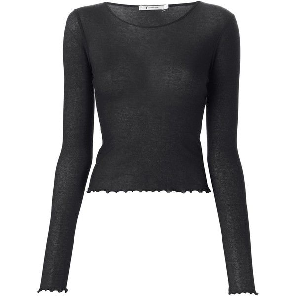 fd16fe7b19 T By Alexander Wang Ruffled Edge Cropped Top ( 191) ❤ liked on Polyvore  featuring tops