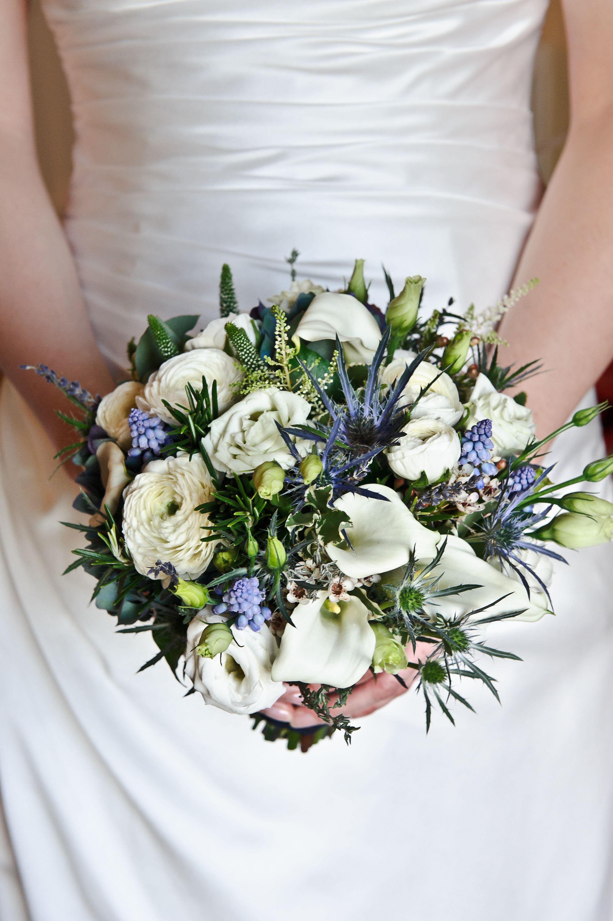 Scottish Wedding Bouquet Blue wedding flowers, Blue