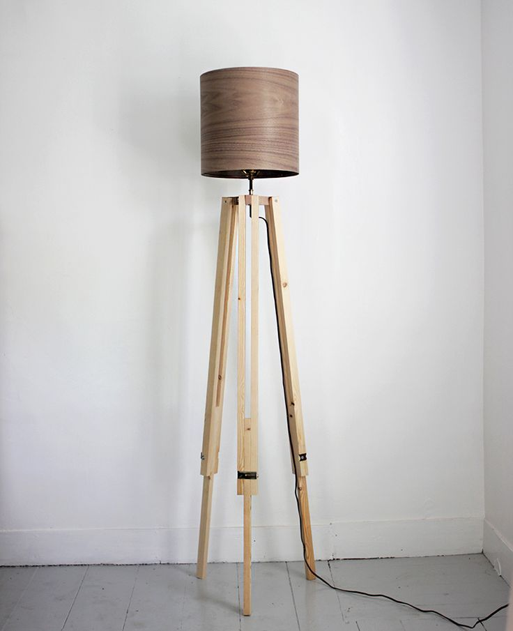 Minimalist Floor Lamps Made Of Wood And Metal In 2019