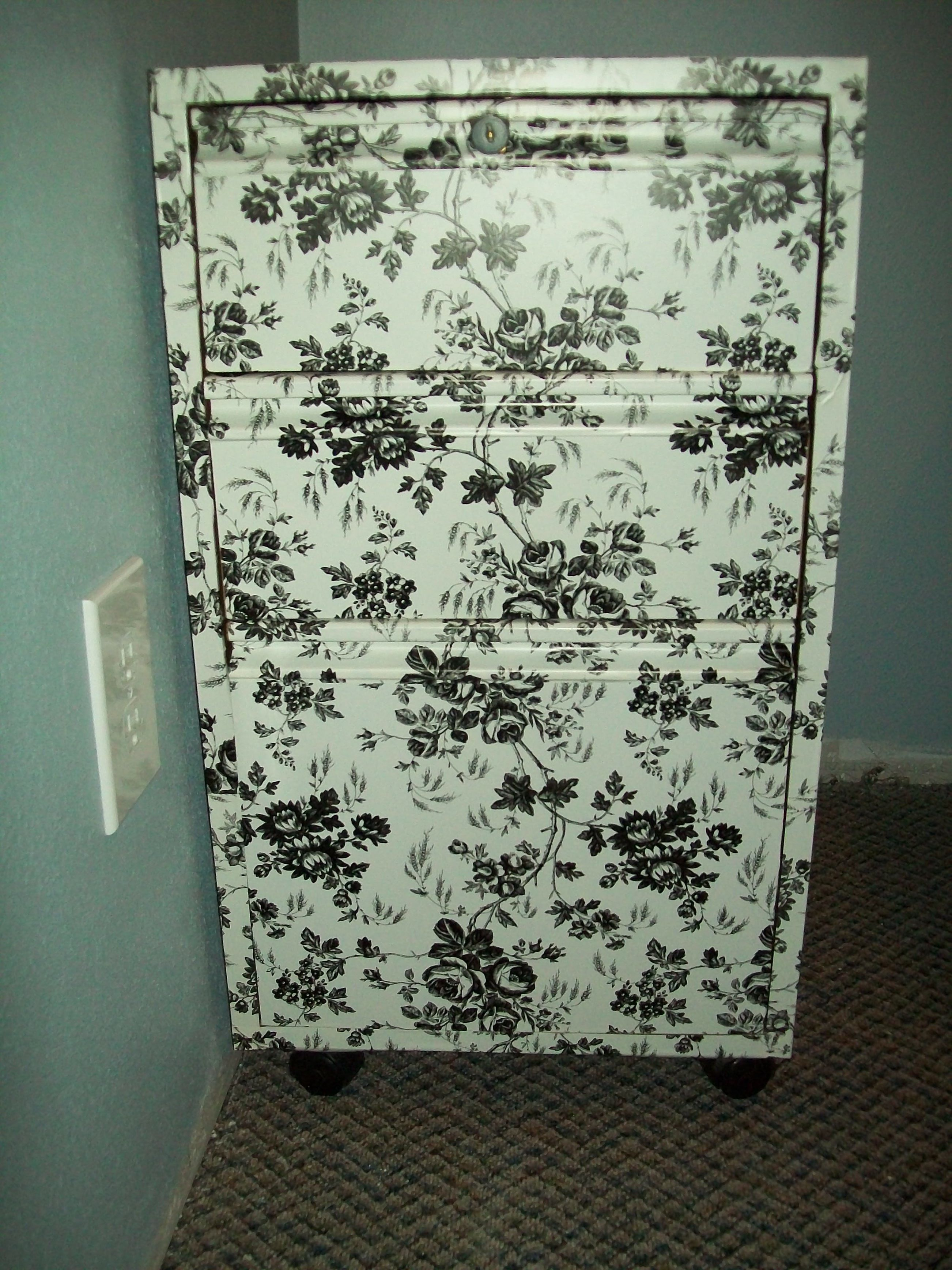 furniture contact paper. How To DIY: Refinished File Cabinet With Contact Paper From The Dollar Tree! Cheap Furniture A