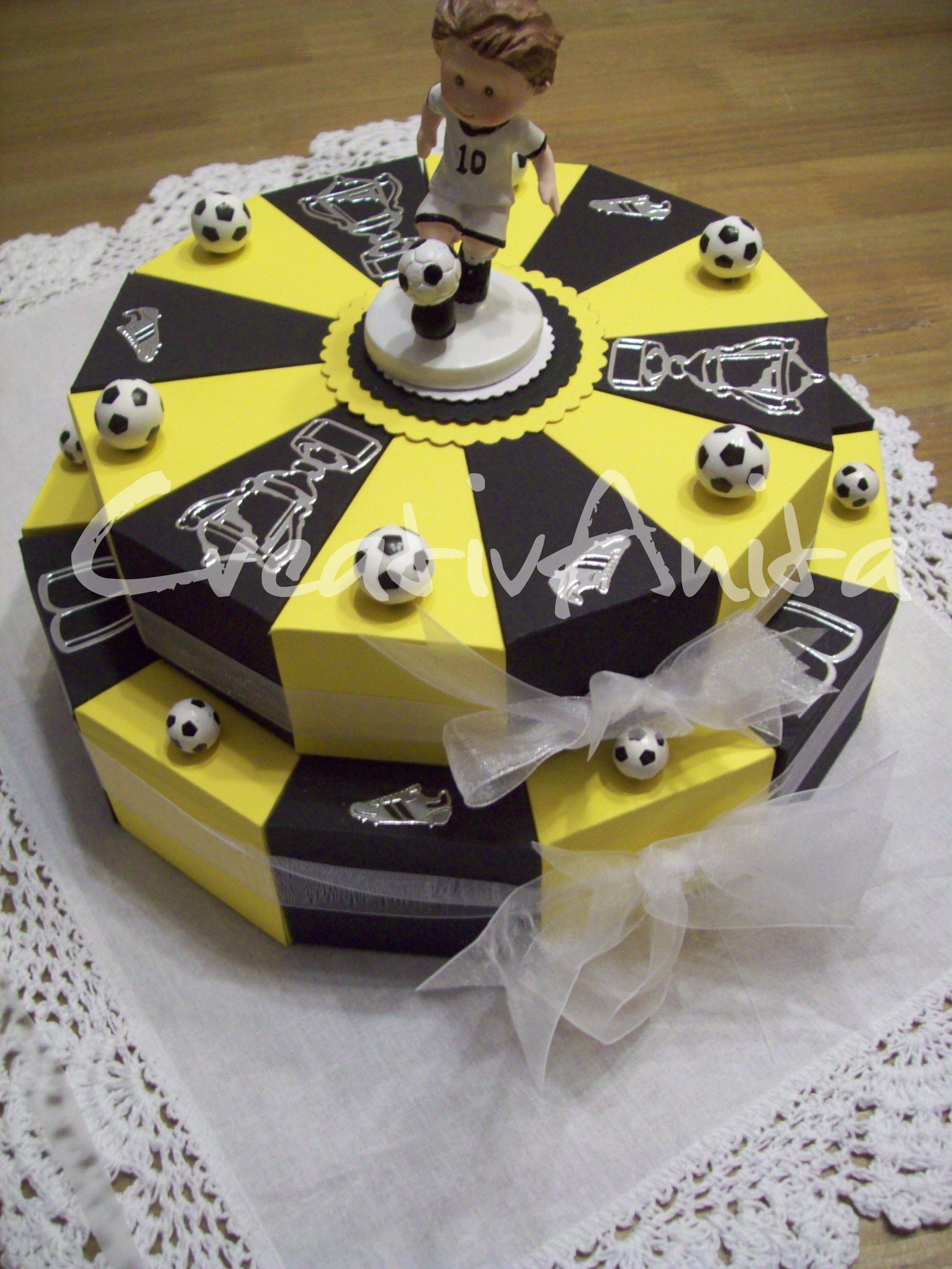 Innenarchitektur Fußball Geschenke Für Männer Dekoration Von Schachteltorte *fussball-schwarz-gelb* 2st. Geldgeschenk #bvb #hochzeit #
