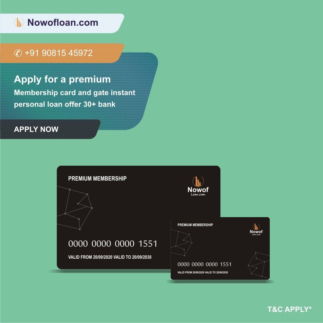 Personal Loan In 2020 Personal Loans Membership Card Instant Loans