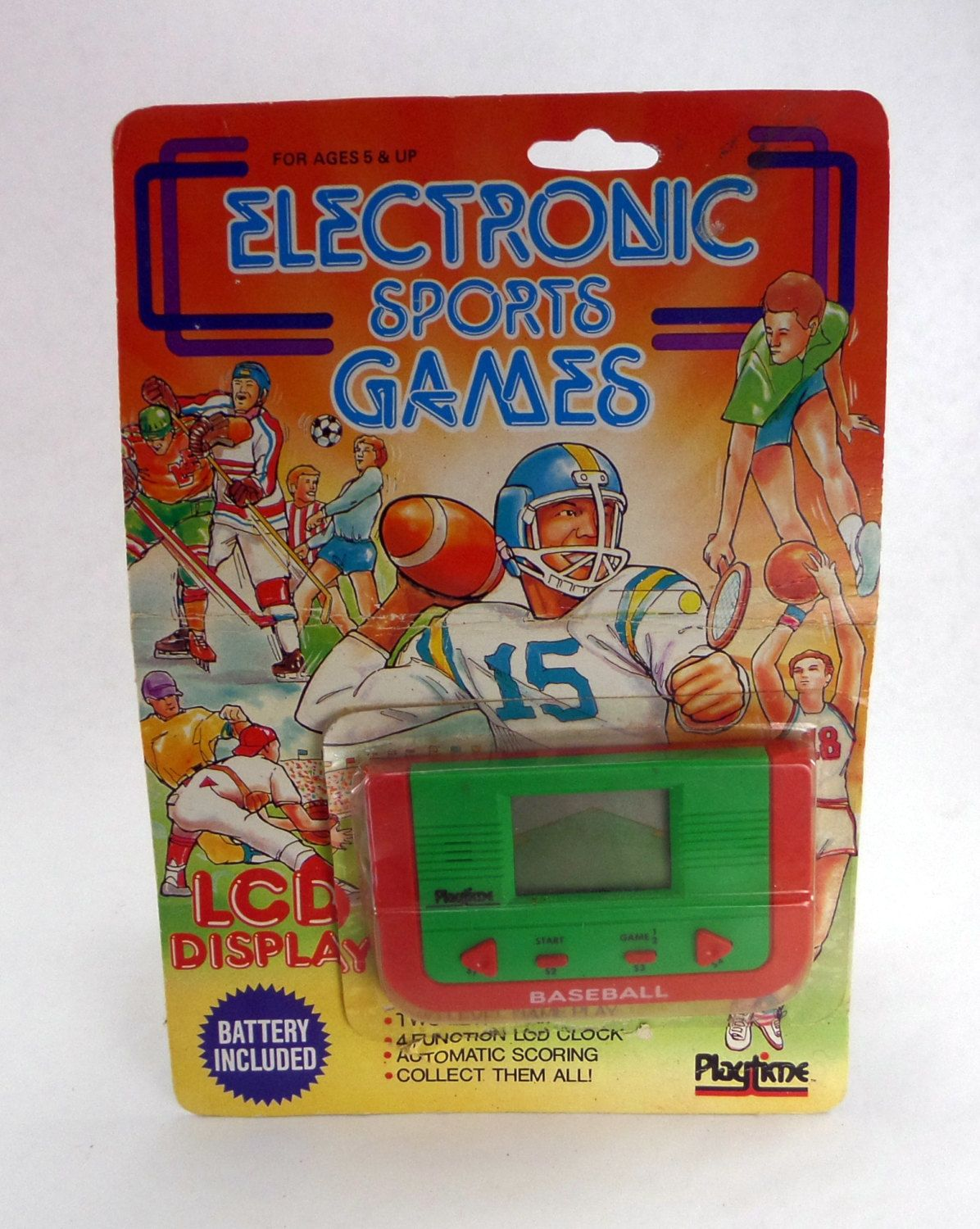 Baseball electronic sports game from playtime 1987