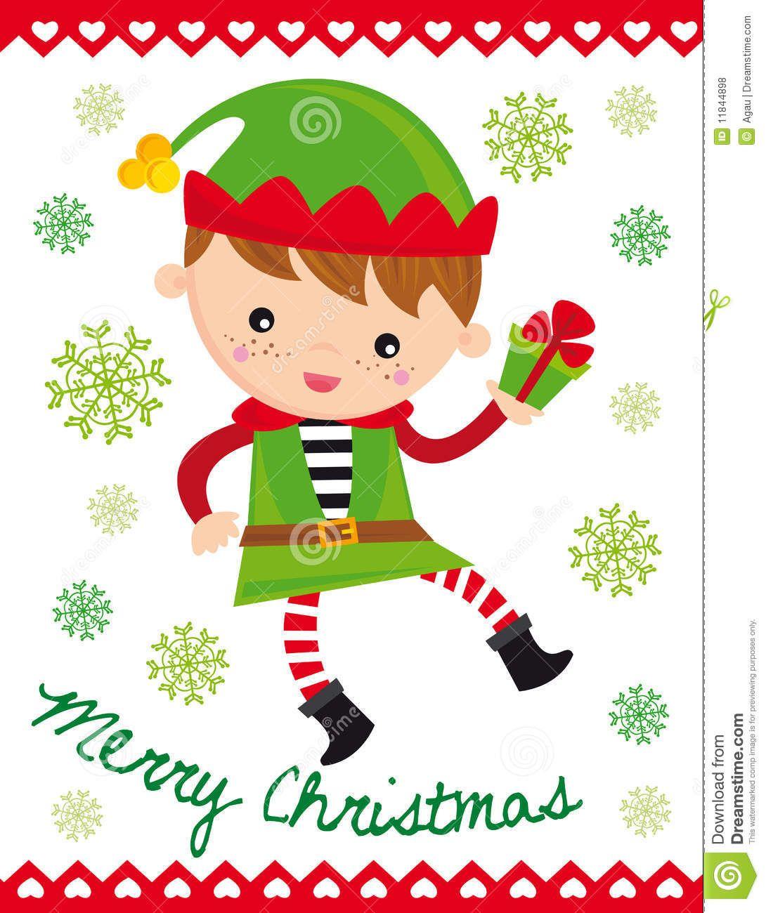 Christmas Humor Clip Art.Funny Elf Clip Art Illustration Of Funny Christmas Elf