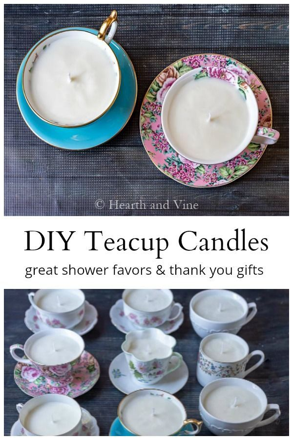 Create fragrant DIY Teacup Candles for everyone on your list this year with this easy tutorial. #teacupcandles #diycrafts #handmadegifts