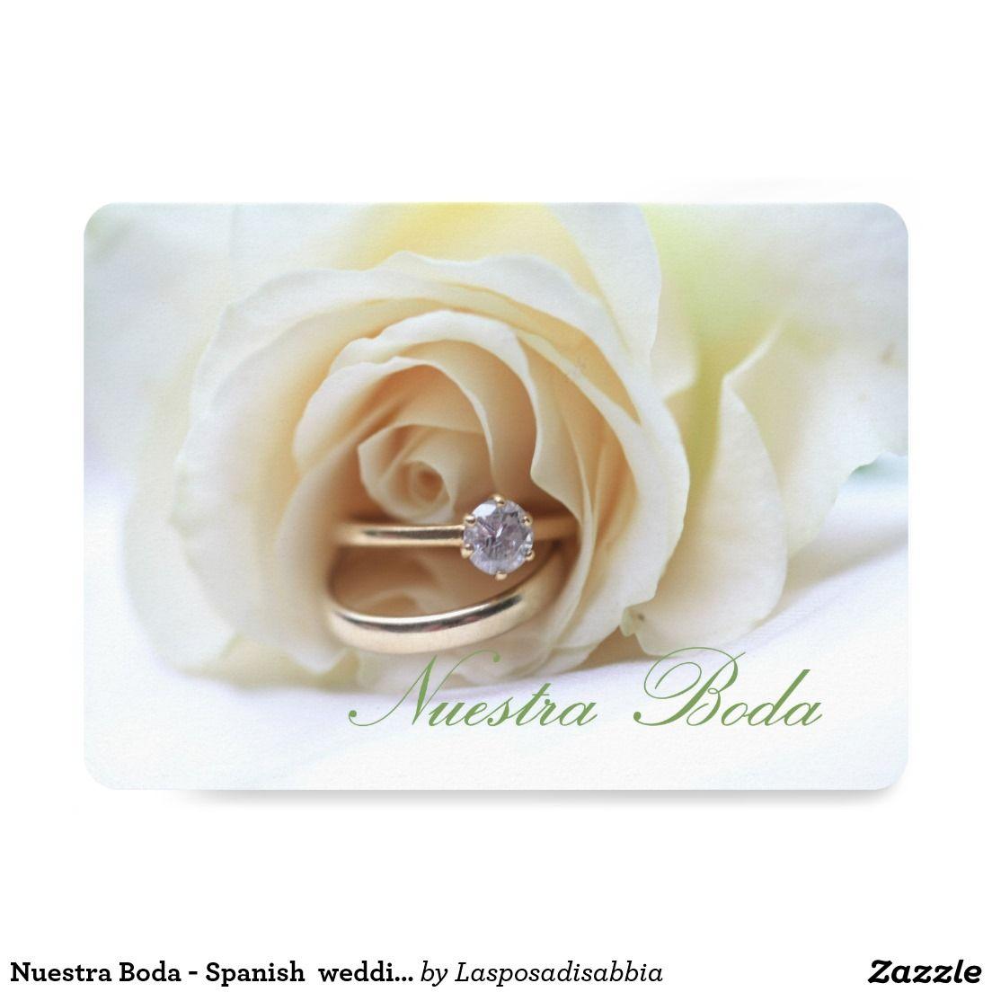 Nuestra Boda - Spanish wedding invitation | Pinterest | Spanish ...