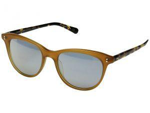Oliver Peoples Jardinette Sun Limited (Amber/Vintage DTB/Blue Goldtone) Fashion Sunglasses