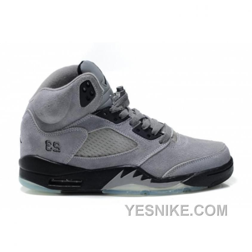 Big Discount 66 OFF Air Jordan 5V Fluff Cool Grey Black White