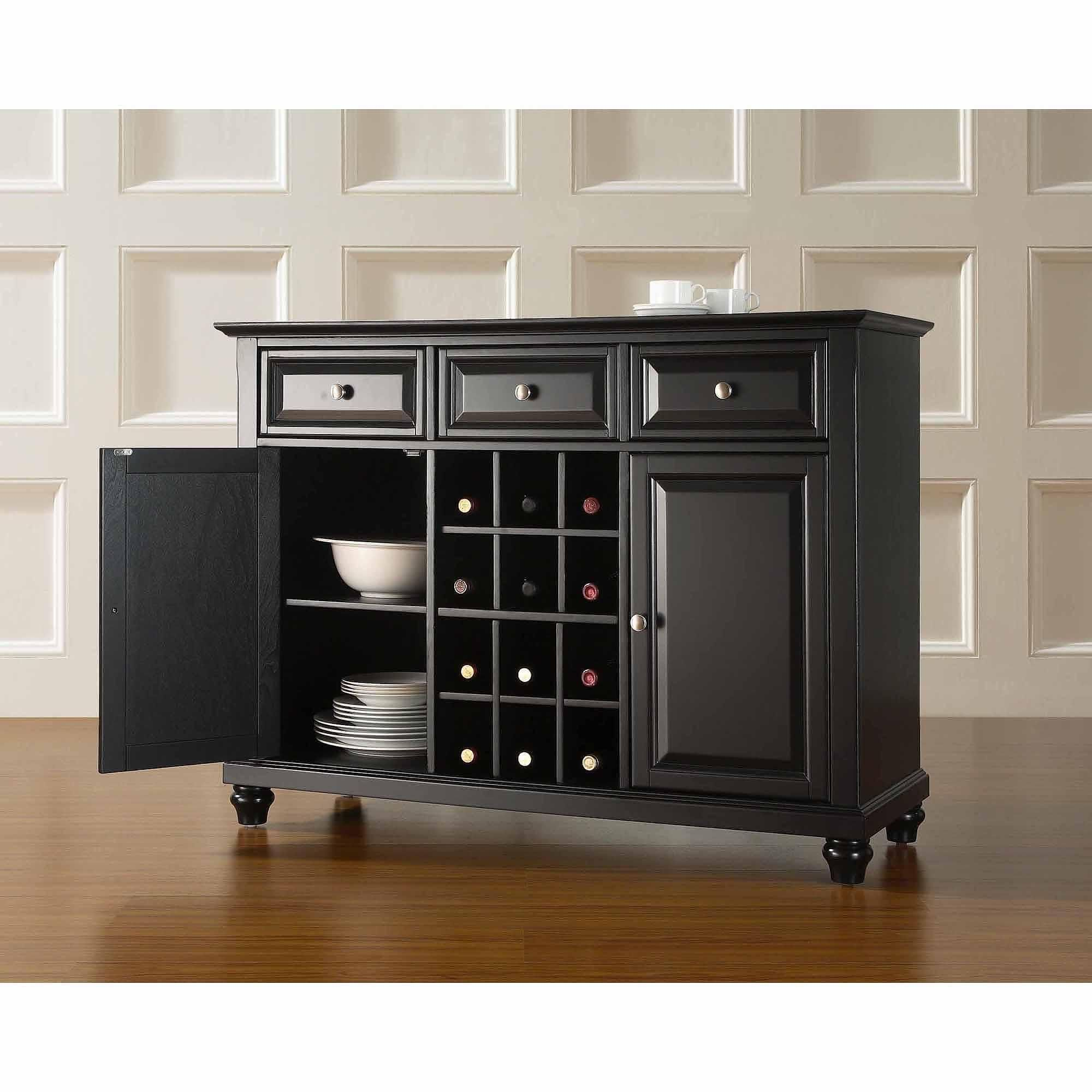 dining room sideboards and buffets. Crosley LaFayette Buffet Server / Sideboard Cabinet In Black-dining Room Dining Sideboards And Buffets C
