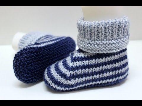 İki şişle iki renkli KIZ/ERKEK bebek botu yapımı // kolay bebek patiği modelleri - patik - YouTube #crochetbabyboots