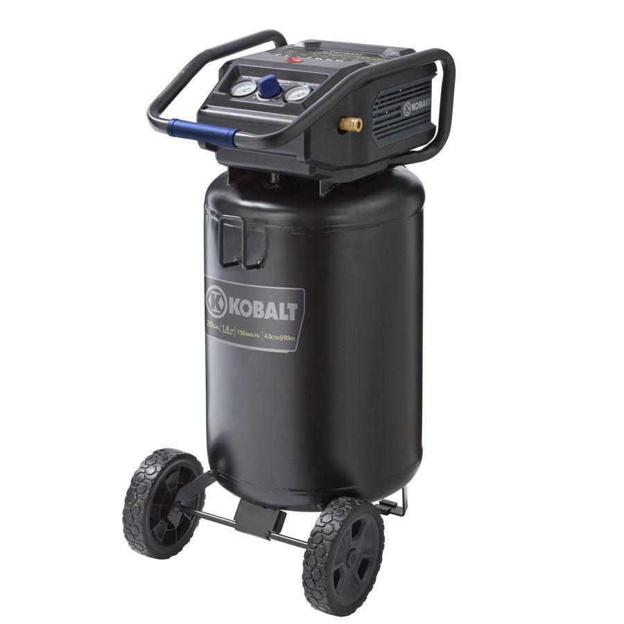 Shop Kobalt 1  Gallon  Volt Vertical Electric Air Compressor At Lowes Com