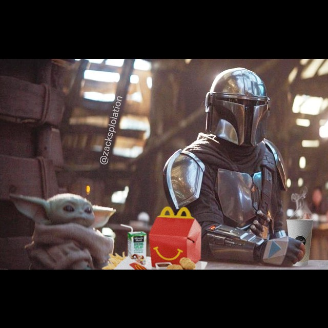 Zack Morrissette On Instagram The Kid Will Have A Happy Meal Disney Star Wars Star Wars Pictures Star Wars Humor