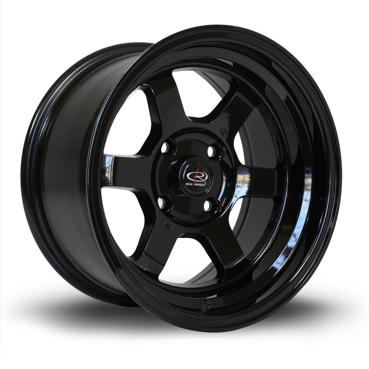 Rota Grid V In Black 15x8 4x100 Et0 Alloy Wheel Wheel Car Wheels
