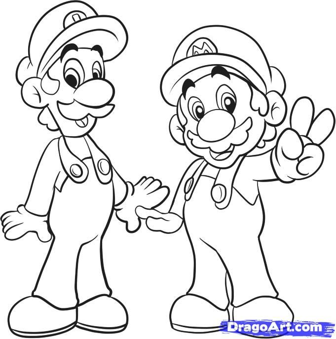 How To Draw Mario Bros by Dawn | How to draw mario ...