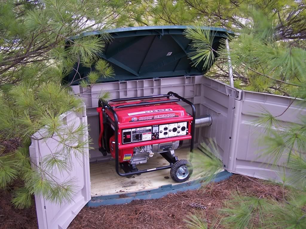 Generator Enclosure Finished Hipoint Firearms Forums Outdoor Light Wiring Pics Inside Doityourselfcom Community
