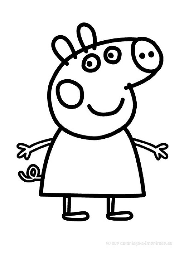 Coloriage Peppa Pig à colorier - Dessin à imprimer Hand embroidery - new free coloring pages for peppa pig