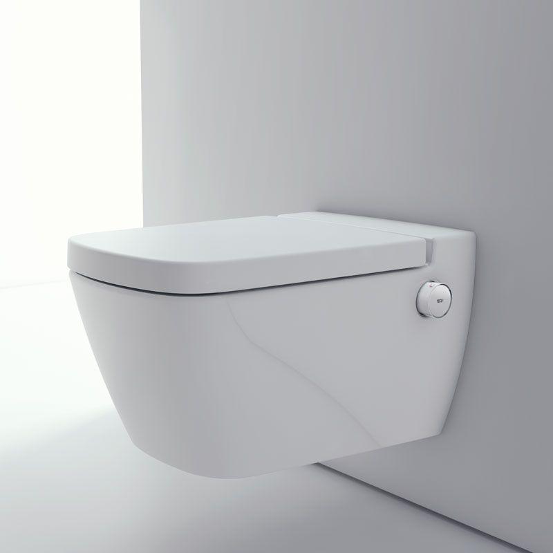 Tece One Wc Keramik Mit Duschfunktion Set Mit Sitz In 2020 Wc Mit Dusche Badezimmerideen Und Badezimmer Design
