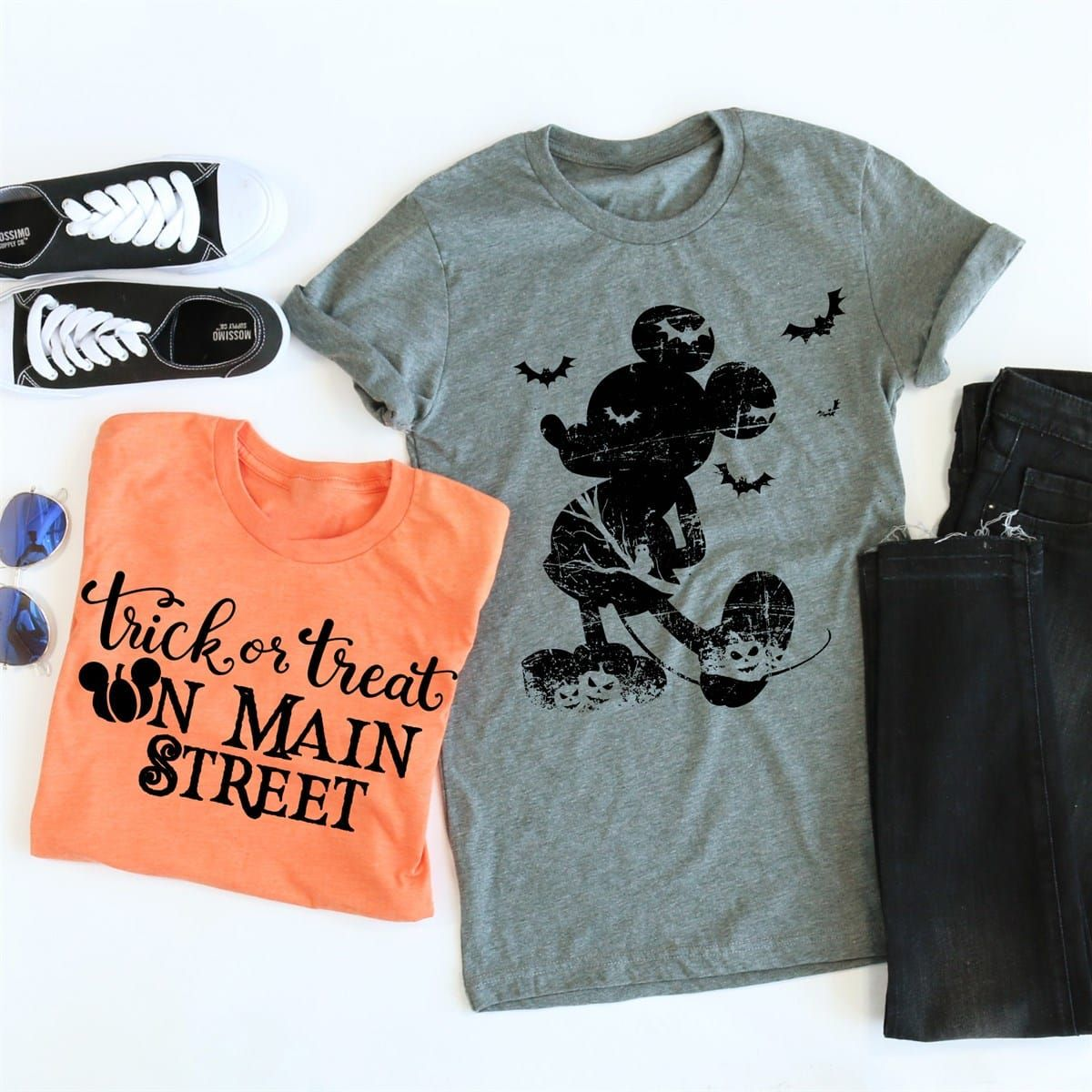 Halloween Main Street Tee Disney Outfits Women Disney Quote Shirts Disney Trip Planning