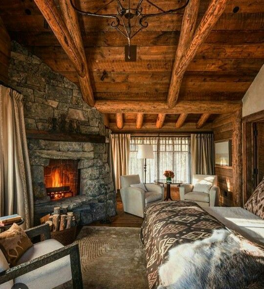 Log Cabin Bedroom: Pin By Aliya Mahmood On Cabins