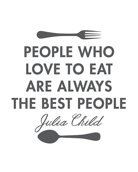 Julia Child Quote Poster Kitchen Print Art by