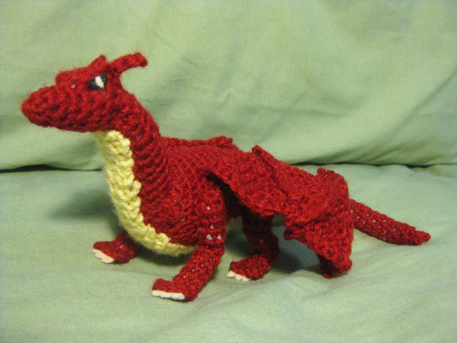 Crochet Dragon by ~opiel16 on deviantART - How cool is that???? @MOM ...