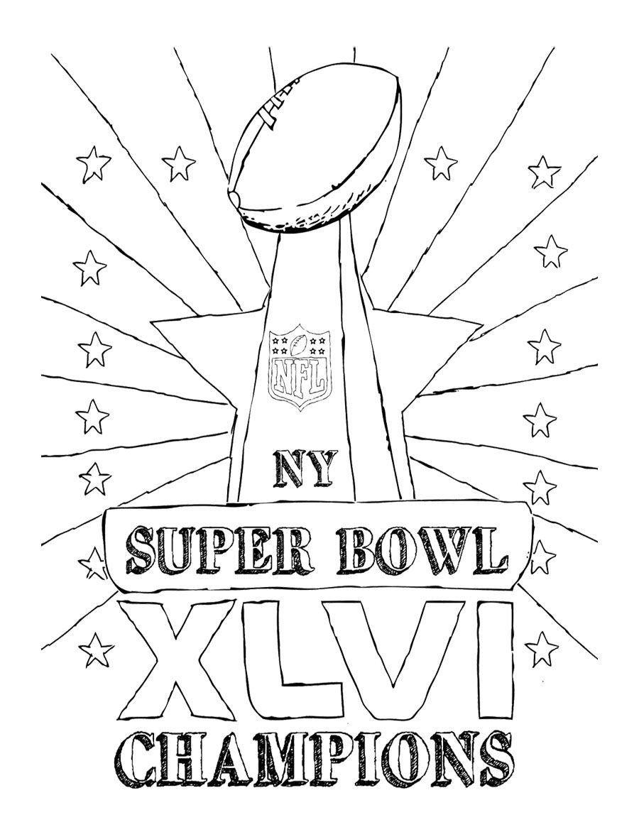 Super Bowl 50 Coloring Page Super Bowl Champions Coloring Page For Kids In 2020 Super Bowl Super Bowl 50 Super Bowl Trophy