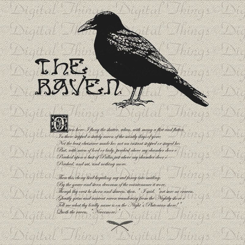 Célèbre Halloween Edgar Allan Poe The Raven Bird Poem Digital Download for  QN96