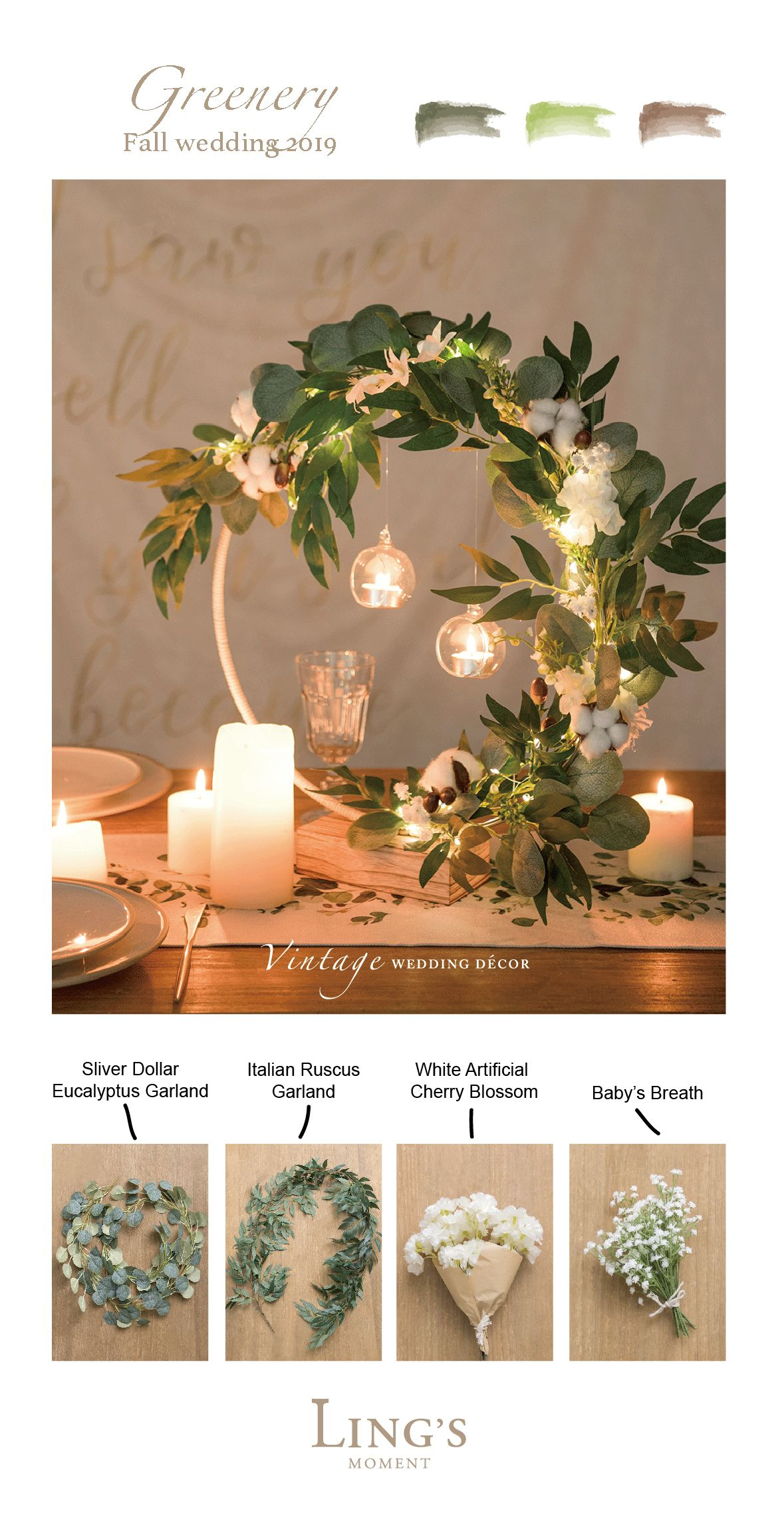 50+ Types of greeneries for #wedding and home decor, 10% off