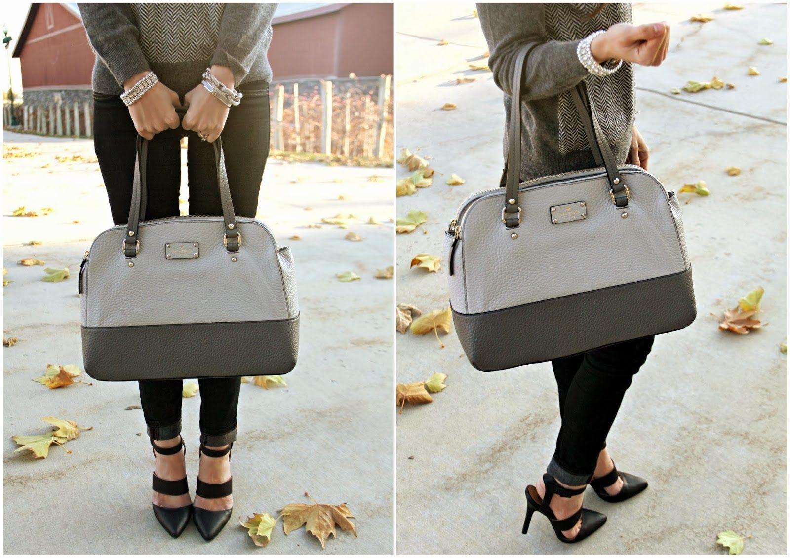 Kiss Me Darling: Grey & Sparkles.... Kate Spade bag