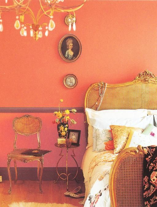 Delicious Interiors With Natural Materials And Gorgeous: Orange Paint And Interior Decorating Color Schemes