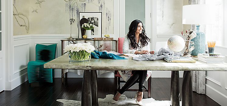 Rachel Roy  Home office  Style at Work  One Kings Lane  Home