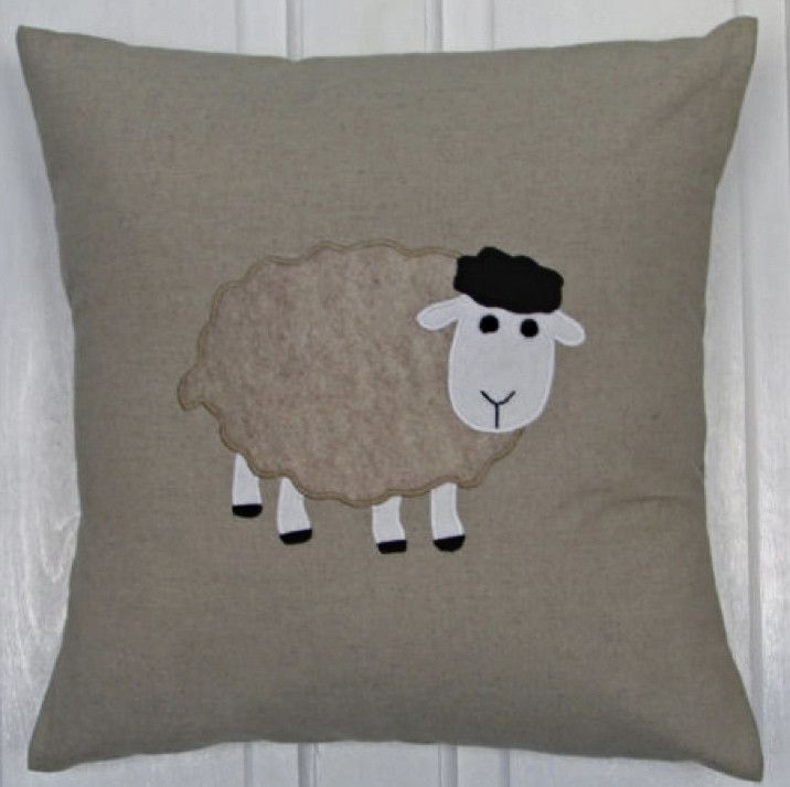 Sheep Cushion £16.00 inc. UK postage. For full details please see website www.cushionsbydesign.co.uk
