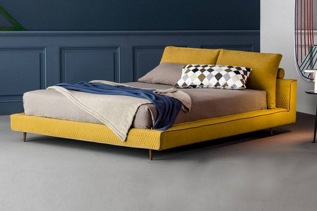 the owen bed was designed to be an inviting oasis of peace and quiet soft