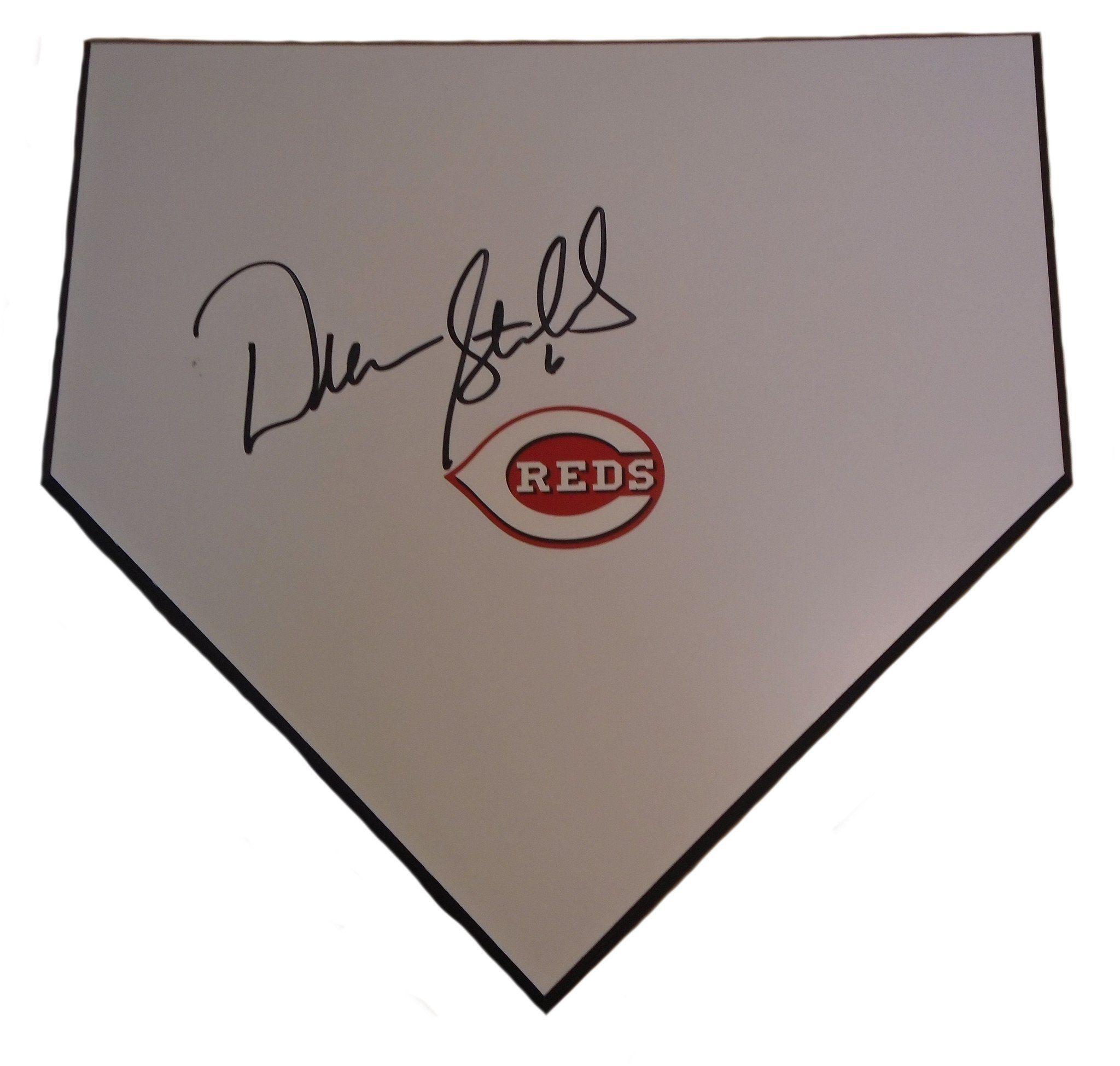 Peachy Drew Stubbs Autographed Cincinnati Reds Baseball Home Plate Download Free Architecture Designs Rallybritishbridgeorg