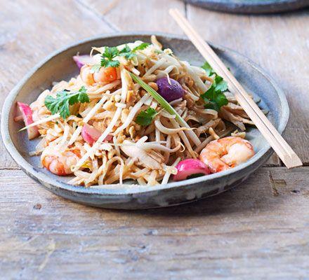 Leftover roast chicken pad thai recipe dinner party menu cuisine forumfinder Choice Image