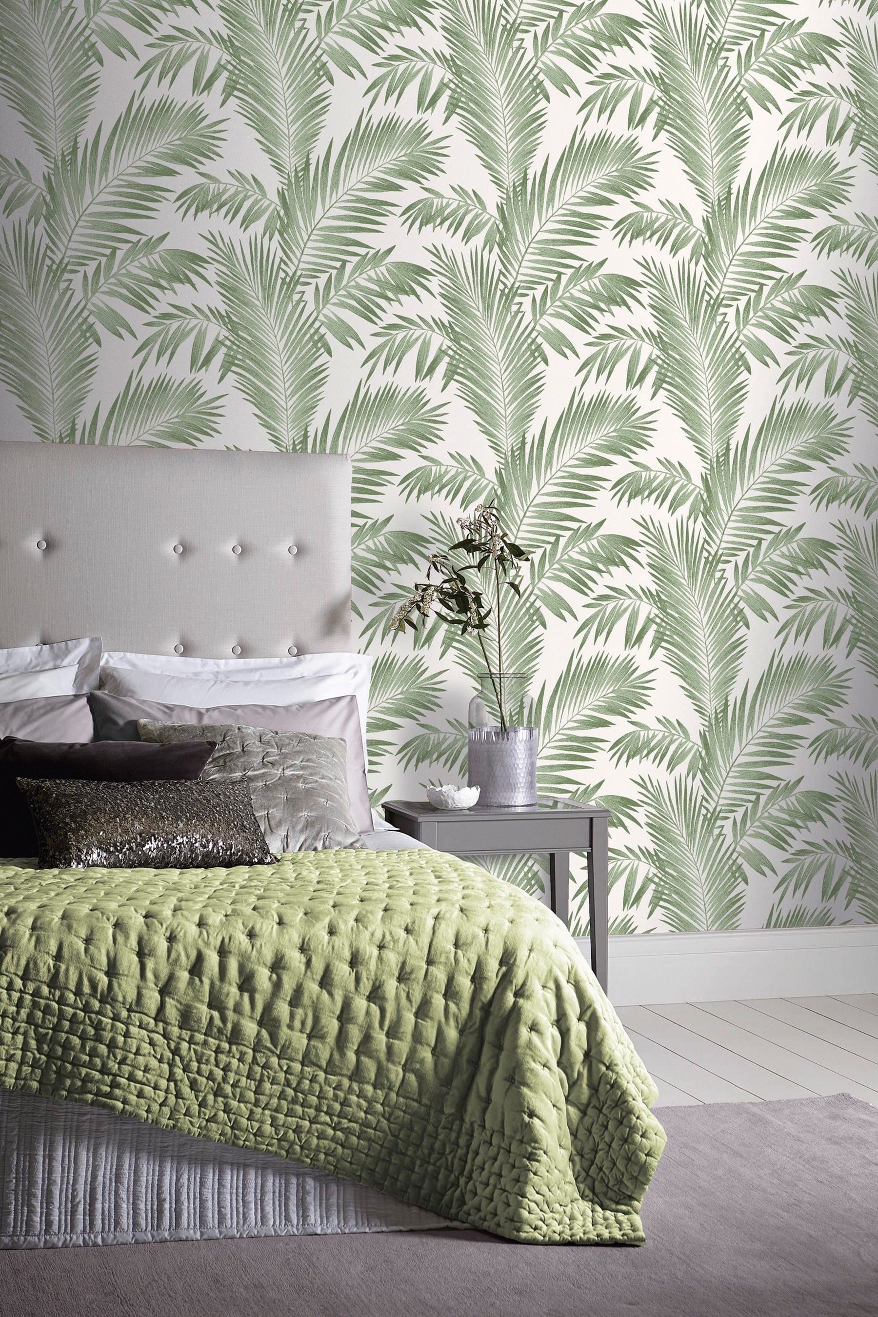 Buy Tropical Palm Leaves Wallpaper by Arthouse from the