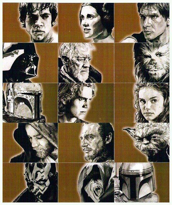 Star Wars characters sketches