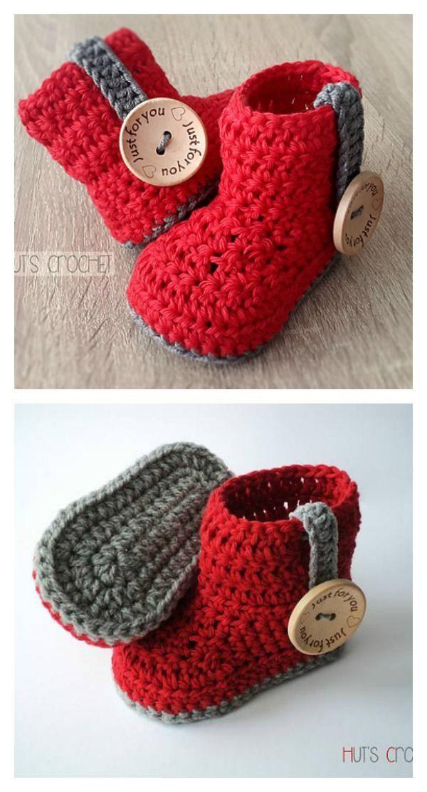 Crochet Baby Bootie Free Pattern | Baby erstausstattung, Baby ...