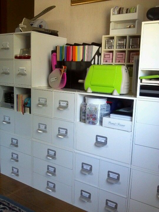 My Crafting Space Using Michael S Recollections Cube Storage Love It Craft Room Office Craft Storage Dream Craft Room