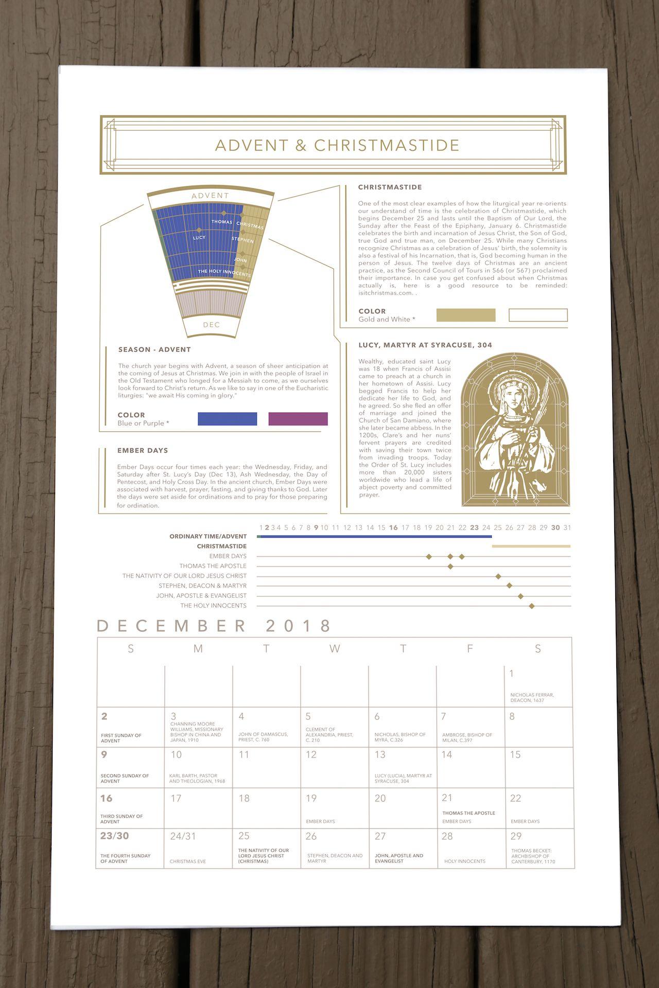 Acna Liturgical Calendar Pre Order Modern