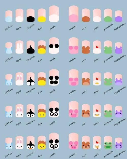 20 Diseños de Uñas de Animales - Paso a Paso - ε Diseños e Ideas ...