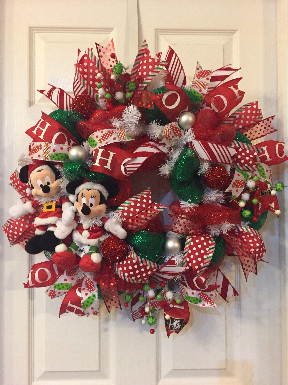disney wreath christmas mesh wreaths deco mesh wreaths wired ribbon disney christmas