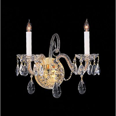 House Of Hampton Milan 2 Light Crystal Candle Wall Sconce Type Swarovski Spectra Finish Polished Br Sconces And